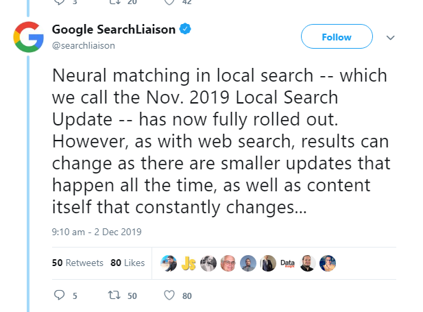 Neural Matching Update