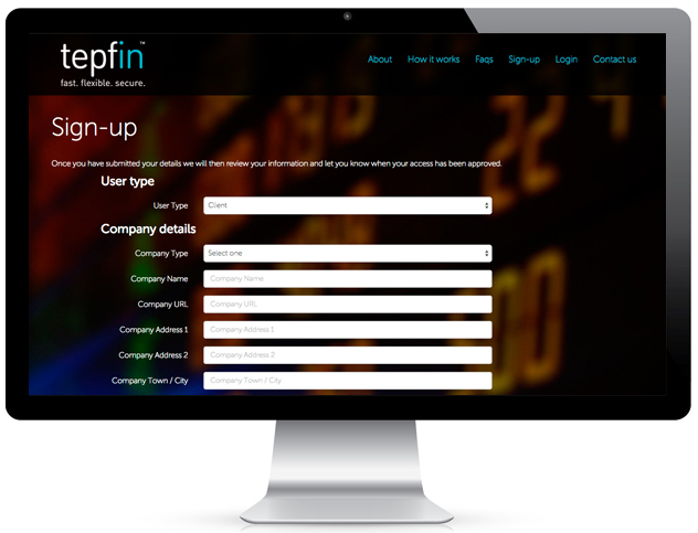 Tepfin on a screen